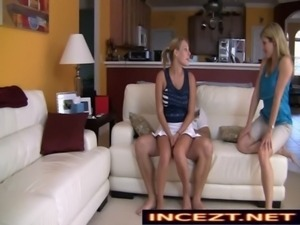 Nikki Mae in My Daughters Secret - Watching TV with Dad and Mom incezt.net free