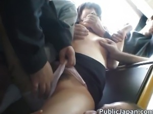 Asian lady is tall and gets public sex