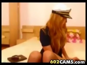 Sexy Teen Slut Playing on Cam in Uniform free