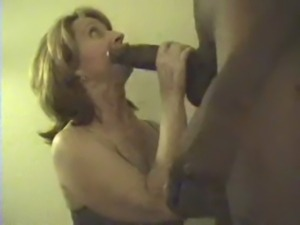 Mature's mouth full of chocolate sausage free