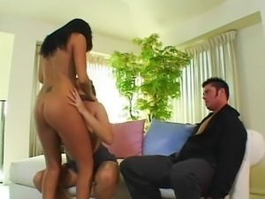 Threesome with Hot Asian and Spicy Latina