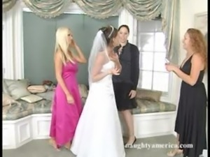 Bridal Threesome...Penny Flame & Nikki Benz free
