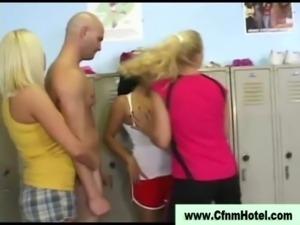 Cfnm locker room sluts get nasty free