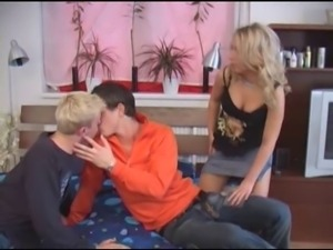 Bi Guy Comes Knockin At A Couples Apartment