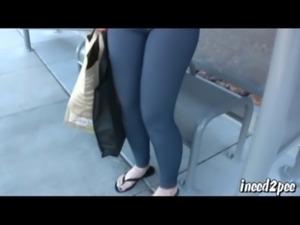 Caroline Pierce pornstar wets her spandex in public free