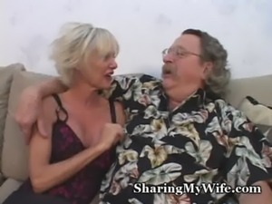 Mature Couple Recruits Young Guy To Help free