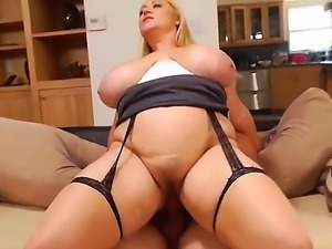 Busty mom Samantha 38g manages to seduce much younger stud Tyler Nixon