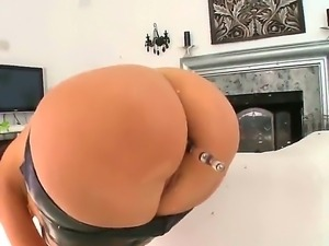 Gorgeous Eloa Lombard is getting her curvaceous bottoms stuffed with dildo by...