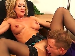 Charming Bill Bailey is fucking his hot employee Brandi Love during office hours