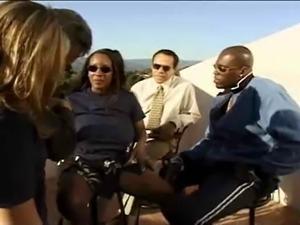 Ebony Big Tits Sierra in 4some