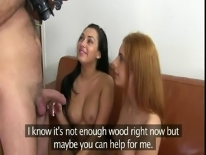 Two girls anal fucking in casting free