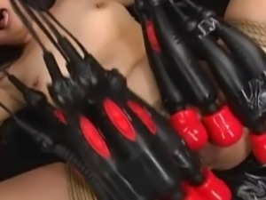 Japanese Sex Slave Tied And Tormented With Fucking Machines and Gyno Play