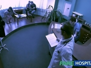 FakeHospital Young teen girl not on birth control bends over for doctors...