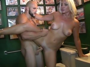 Amateur girl get fucked in toilet.., for money