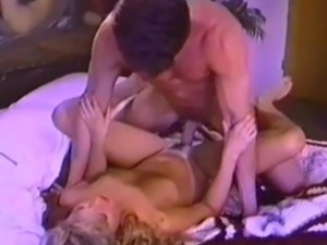 P.J. Sparxx and Peter North have awesome sex on a mattress on the floor with...