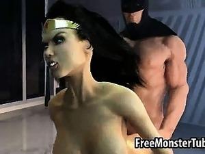 3D Wonder Woman getting fucked hard by Batman
