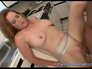 Big tits bunny gets fucked sex at the casting and toy