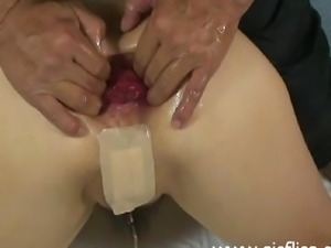 Extreme shameless housewife brutally fist fucked in her destroyed gaping...