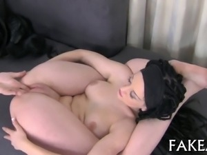 Hot chick delights with wet blowjob and raunchy cock riding