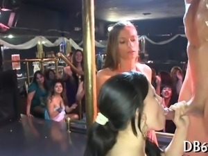 Hot girls watche their friend suck cock at a party