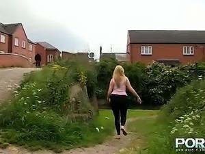 Blonde amateur Paige just loves pissing in public