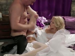 Blonde bride jessica drake nailed hard