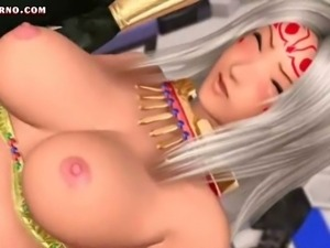 Sexy animated blonde gets double fucked