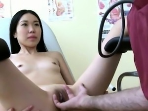 Old perv doc takes hot asian girl