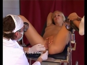 Young blonde slaves medical humiliation and doctors bdsm at the pain clinic...