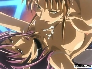 Hentai shemale gets handjob and ass fucked