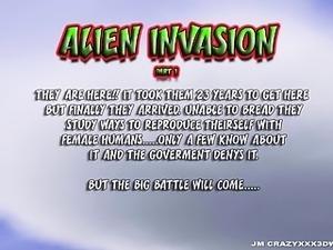 3D Animation. Alien Invasion