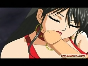 Captive hentai guy gets blowjob and sucking his cock