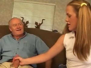 Old man assfucking a schoolgirl