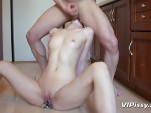 pissing in her vagina