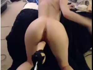 hot milf ass fucked by machine no lube