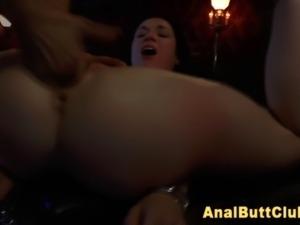 Ass fingered bondage slut
