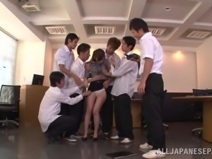 japanese teacher undressed by students