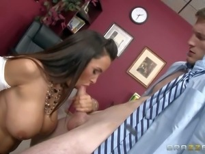 As busty as butty Lisa Ann is one of most amazing fuckers, so she likes her...