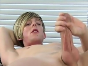 Gay guys EMO guy Jamie showers his six pack with Cum and sme
