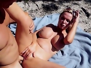 Beach sex with thick ass MILF Nikki Benz