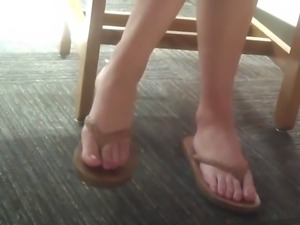 14 min hot teenfeet in library