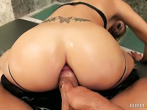 Mick Blue explores the depth of hot Charisma Cappellis asshole with his rod...