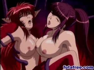 Caught hentai redhead gets fucked by shemale