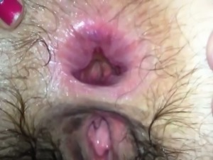 Home video of anal fucking ends with creampie
