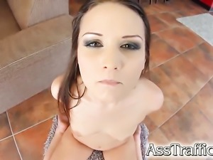 Hot bodied seductress gets bum hole heavily shagged