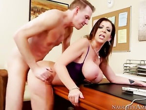 Asian Sara Jay knows no limits when it comes to fucking with hot guy Mark Wood