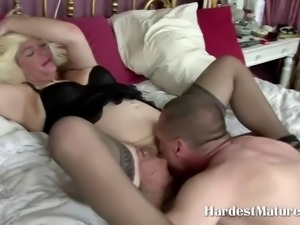 Blonde Fat Mature Slut