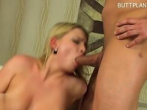 Girlfriend brutal anal orgasm