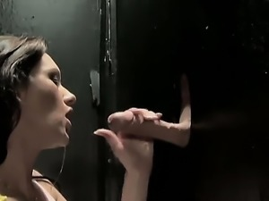 Taylor Rain is a professional whore who has been working the gloryhole for...