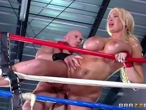 busty summer gets pumped in the box arena